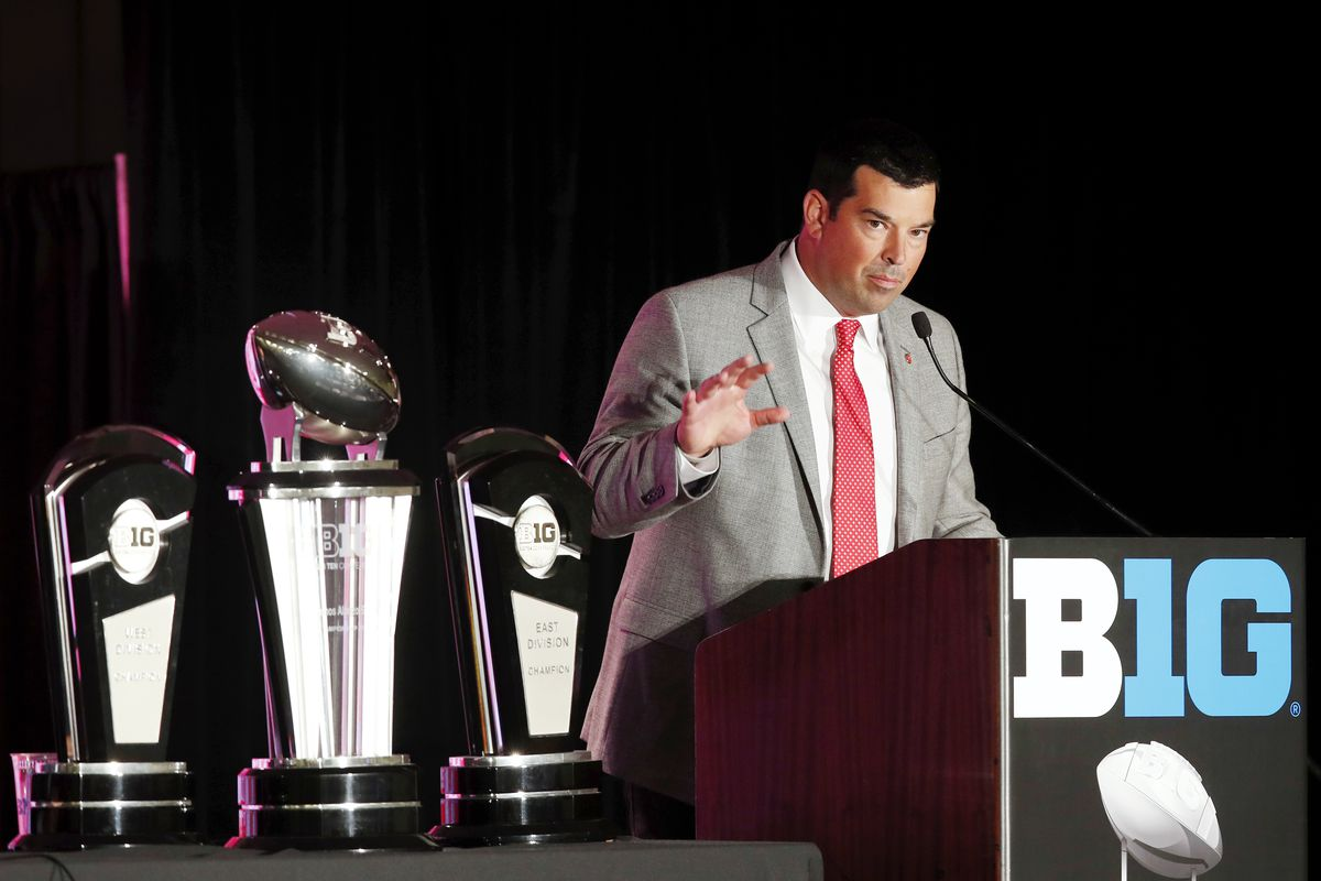 Ryan Day takes the podium on day one of fall practice