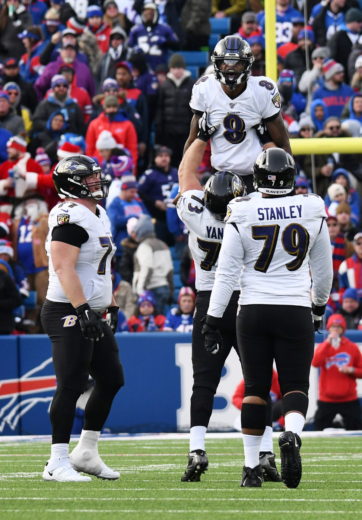 Ravens win ninth straight, clinch playoff berth with 24-17 victory over Bills