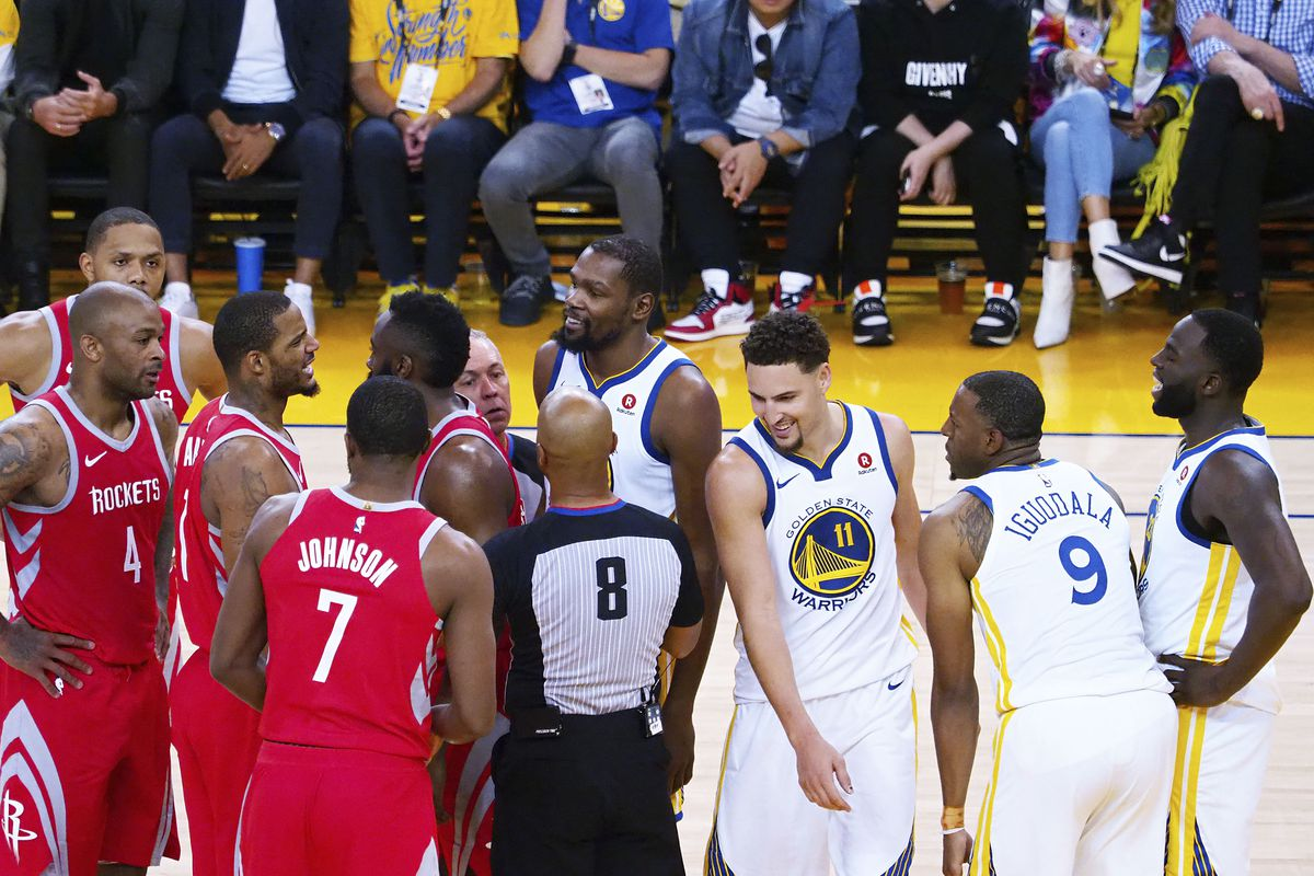 965d8756cb0 Kelley L Cox-USA TODAY Sports. It s time for Game 4. The Golden State  Warriors and Houston Rockets ...