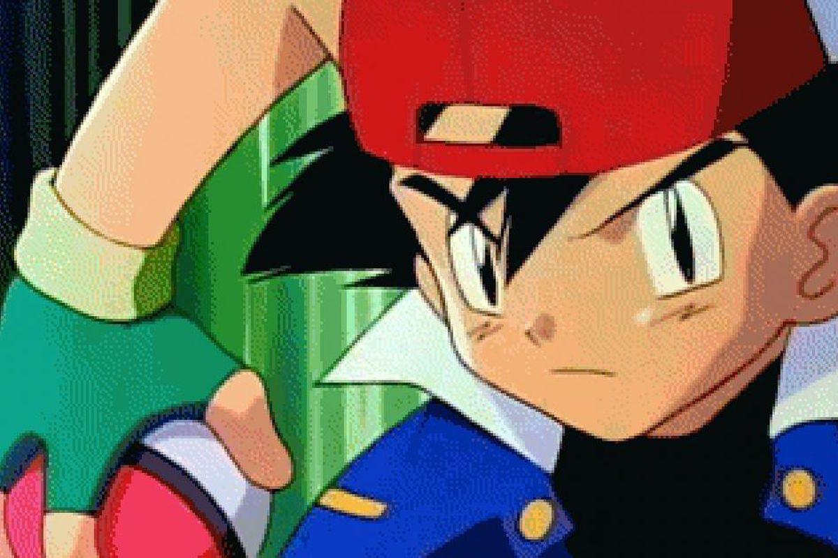 Ash Ketchum from the original Pokémon anime gets ready to throw a Poké Ball