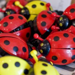 Lady bug bicycle bells with wings that flutter
