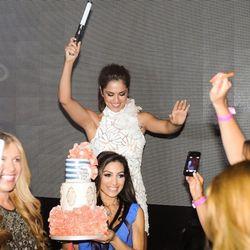 Singer Cheryl Cole celebrates her 30th birthday at Hakkasan. Photo: Brenton Ho/Powers Imagery LLC