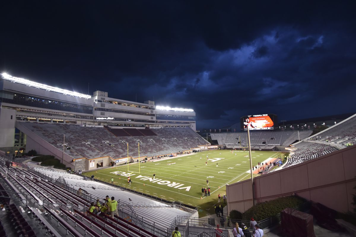 It's night out over Lane Stadium, but is it darkest just before dawn?