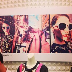 3.1 Phillip Lim's spring campaign lined the walls.