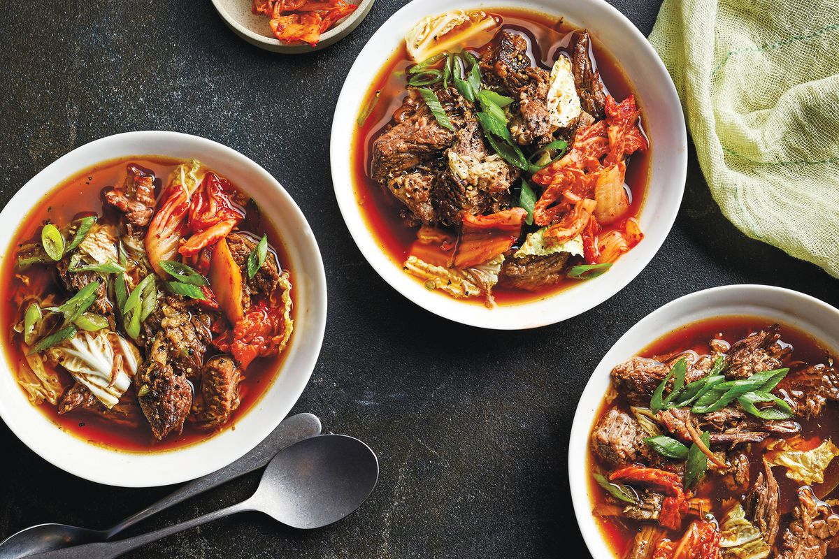 Menu planner: Korean beef-and-cabbage stew tops this week's appetizing recipes