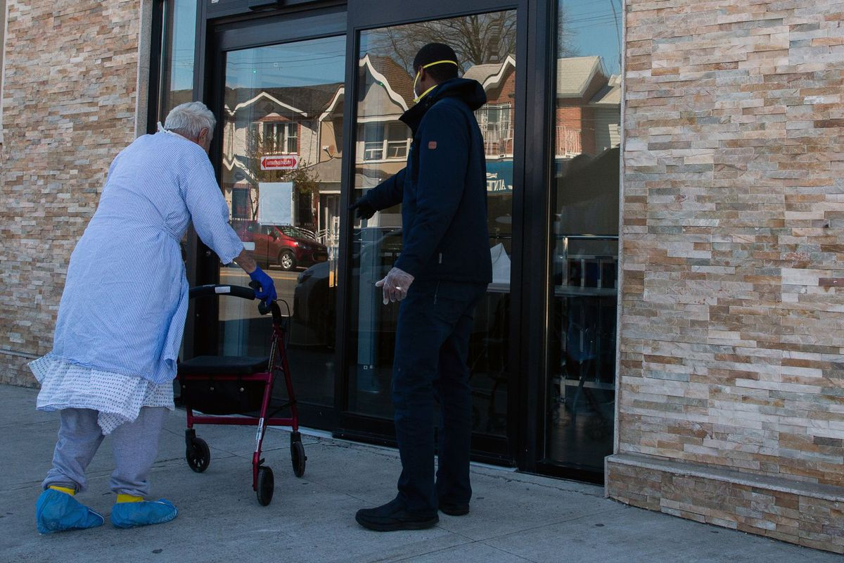 An elderly man was dropped off at a Jamaica, Queens hotel shelter.