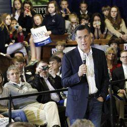 Republican presidential candidate, former Massachusetts Gov. Mitt Romney speaks at the Mississippi Farmers Market in Jackson, Miss., Friday, March 9, 2012.