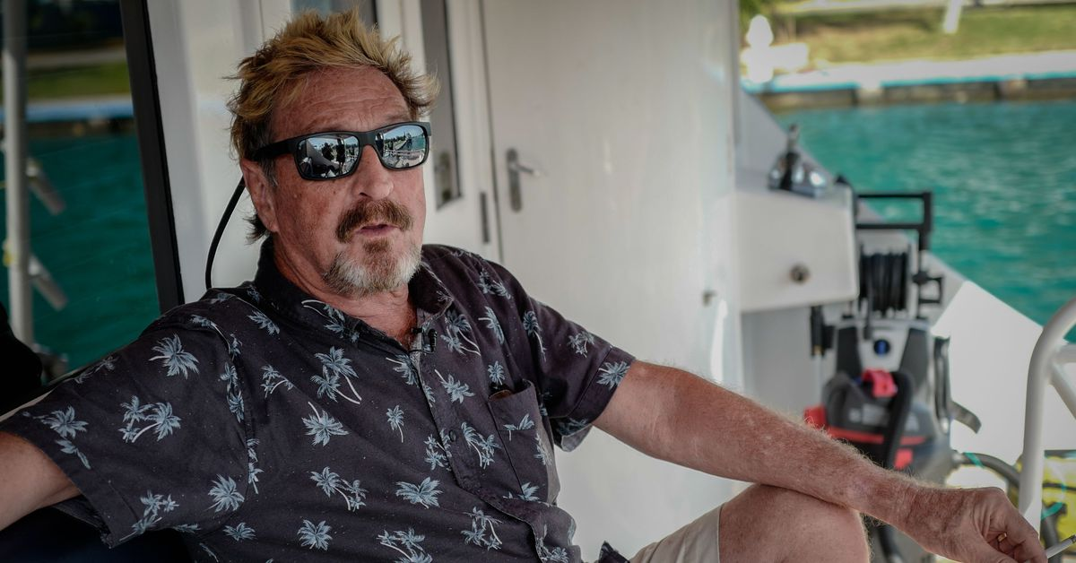 John McAfee charged with securities fraud for 'pump and dump' cryptocurrency scheme thumbnail