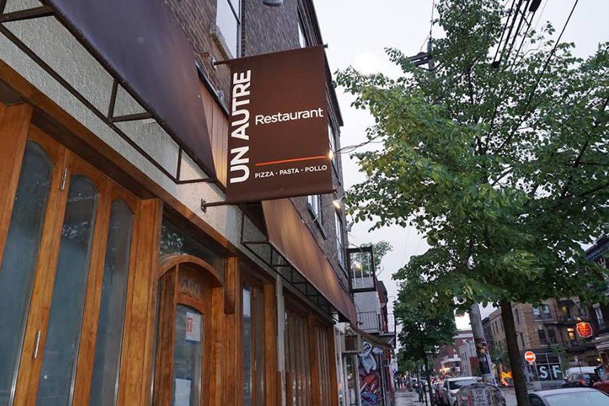 Outside Mile End's latest restaurant