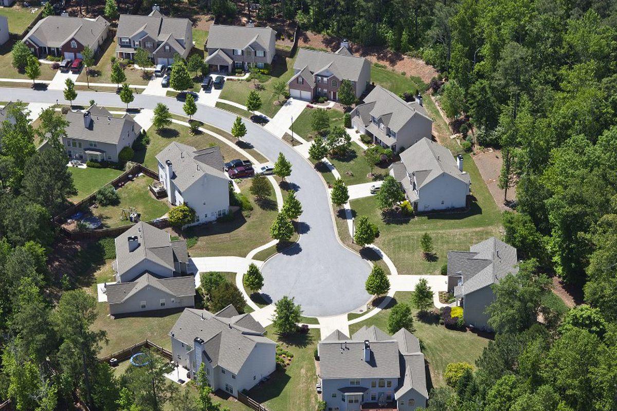 A typical suburban cul-de-sac in Atlanta.