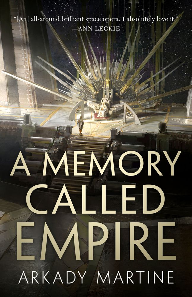 A Memory Called Empire by Arkady Martine has a throne room on the cover