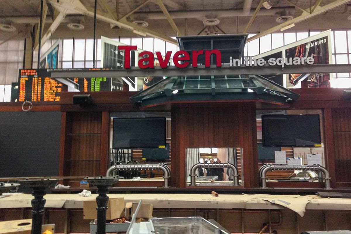 The South Station Tavern in the Square, shortly before opening in early 2014.