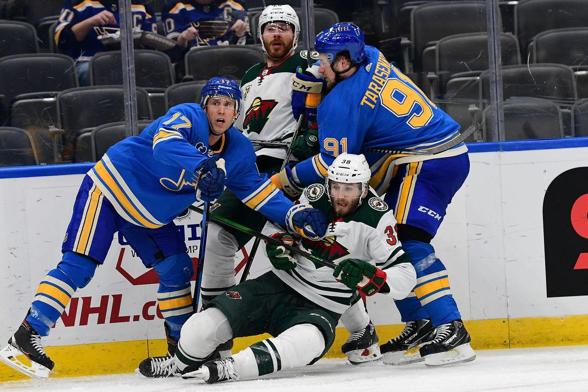 NHL: APR 10 Wild at Blues