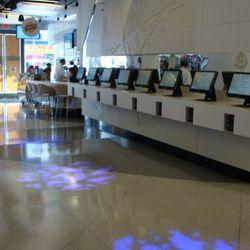 The ordering kiosks.