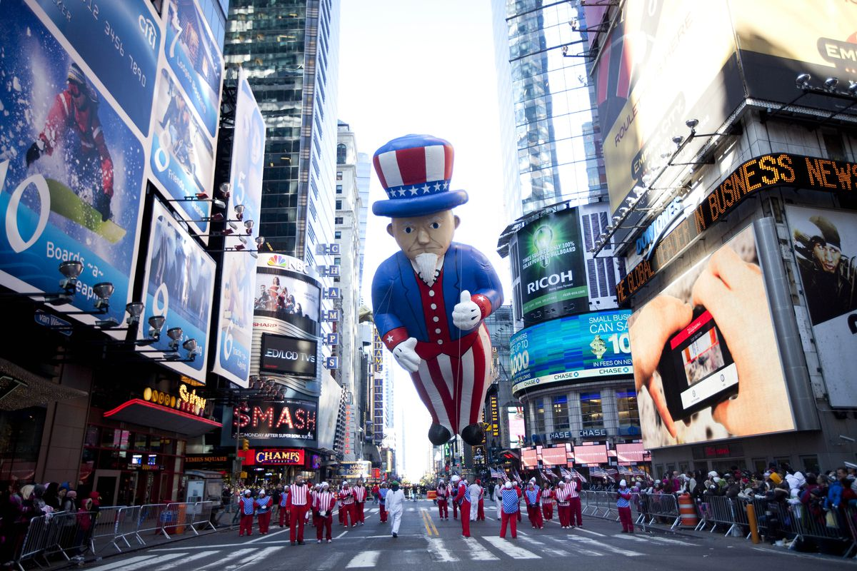 Macy's Legendary Thanksgiving Day Parade Winds Through New York City