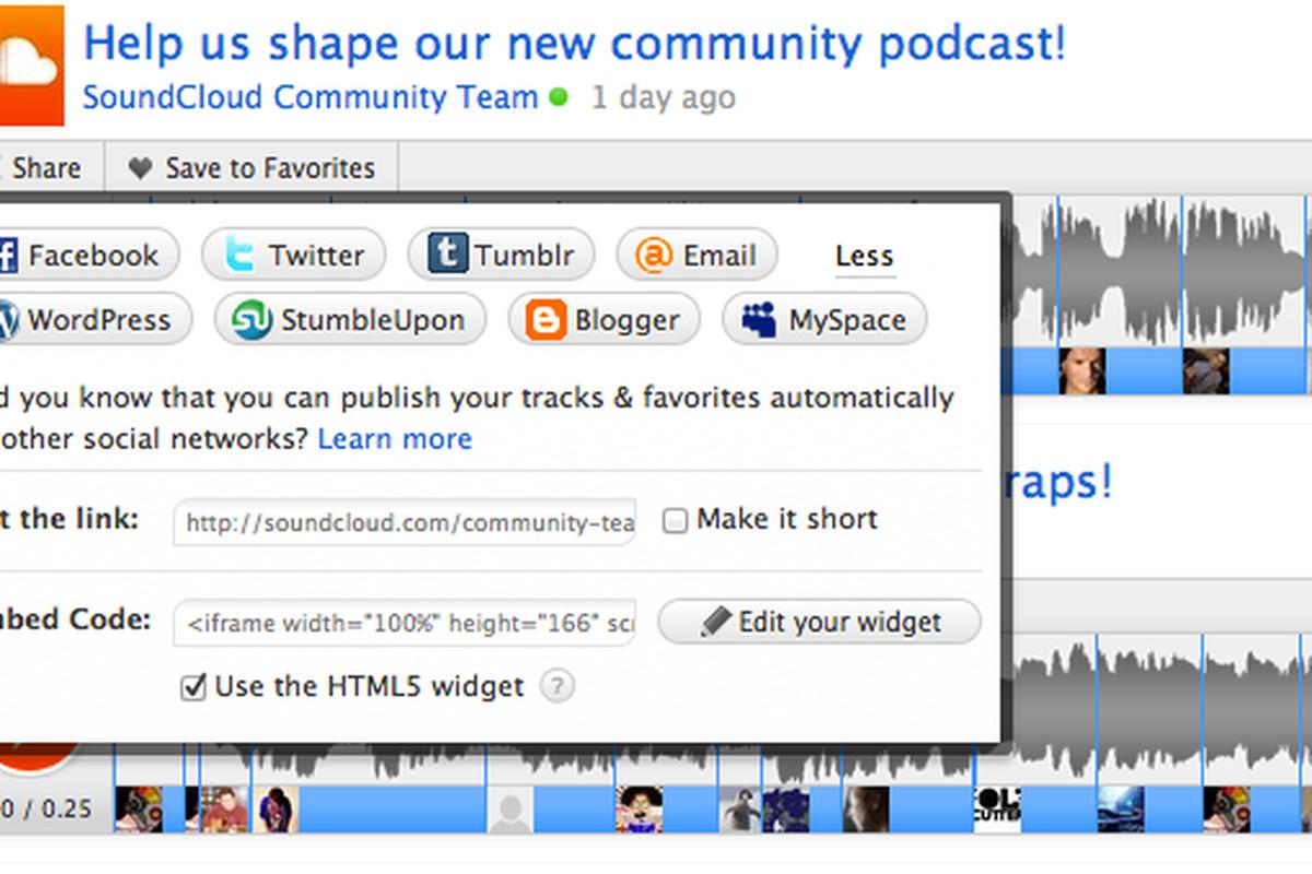SoundCloud HTML5 widget
