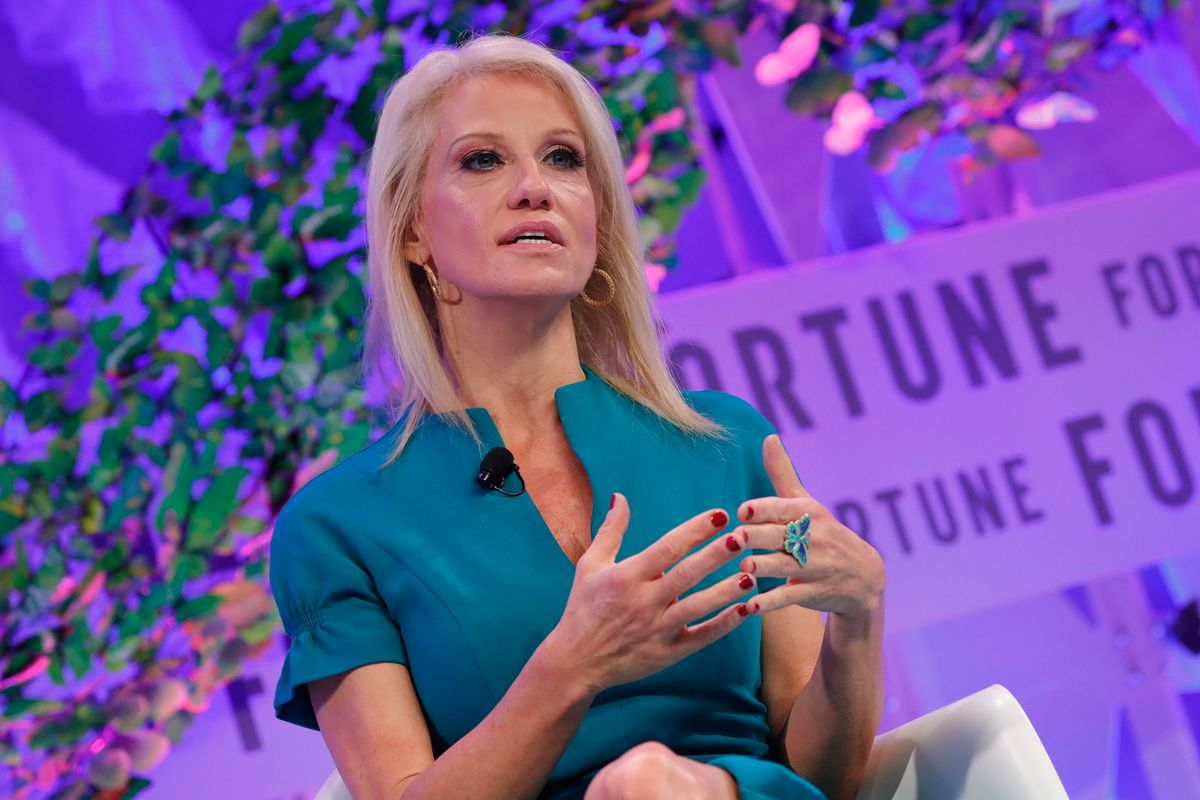 Counselor to the President Kellyanne Conway speaks onstage at the Fortune Most Powerful Women Summitin October 2017.