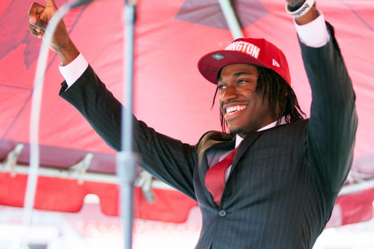 RGIII reacts upon hearing the news he'll be talking with Hogs Haven.