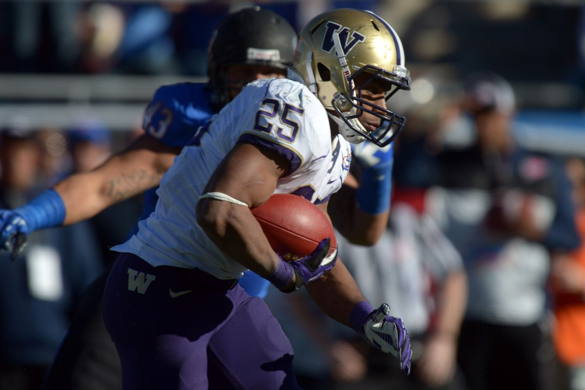 RB Bishop Sankey nearly carried the Huskies to victory last time the teams played