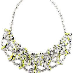 """<h1>Painterly Accents</h1><br><i>Tom Binns, <a href=""""https://editorialist.com/jewelry/product/painted-gargantalia-white-crystal-necklace"""">$1,263</a></i><br>""""This spring, accessories took a painterly spin."""""""