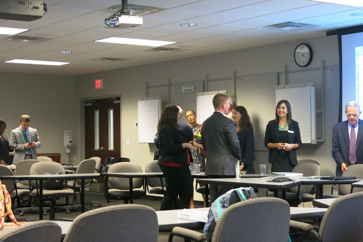 State Board of Education members talk during a meeting on Tuesday in Nashville.