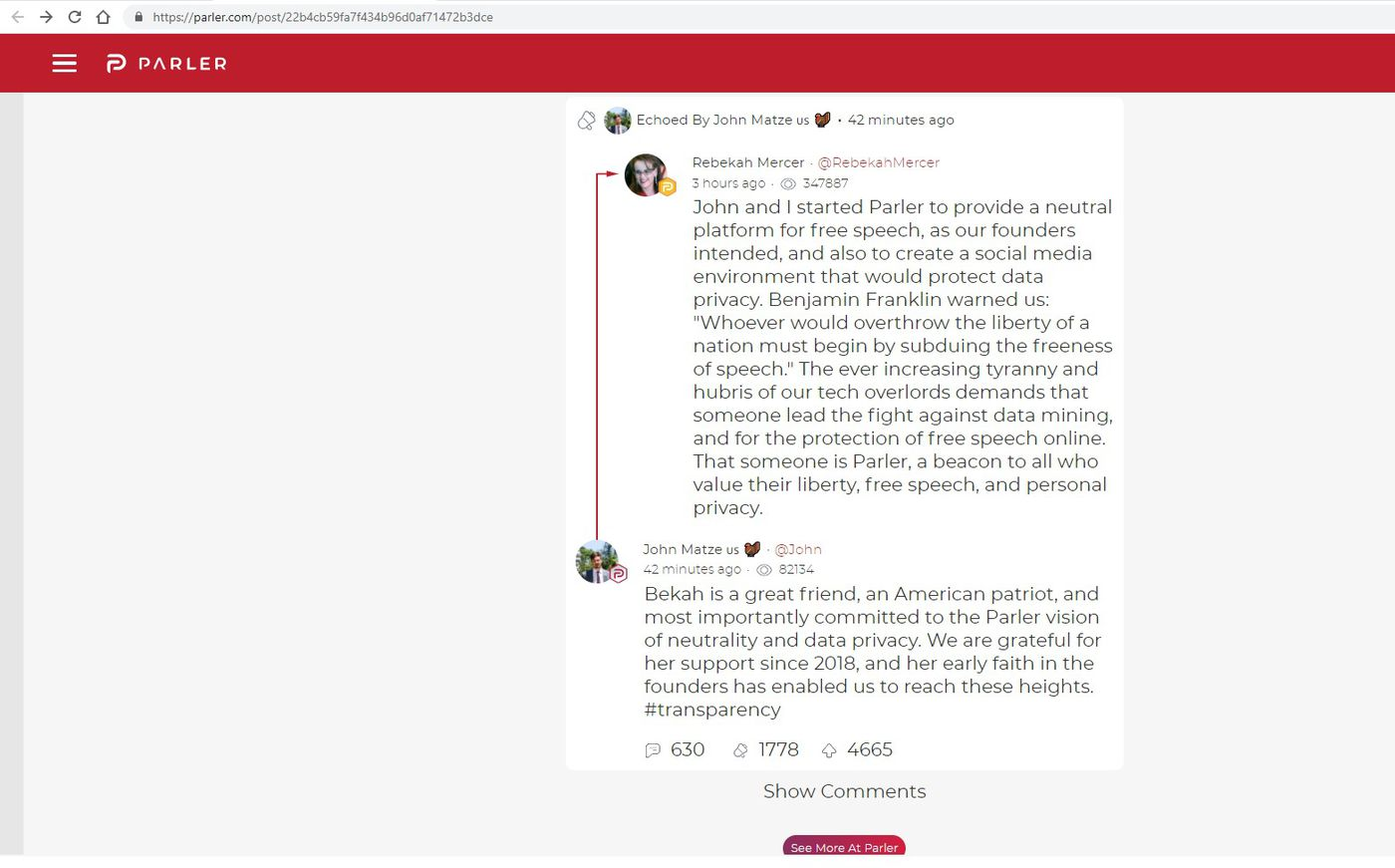 Social App Parler Apparently Receives Funding From The Conservative Mercer Family The Verge