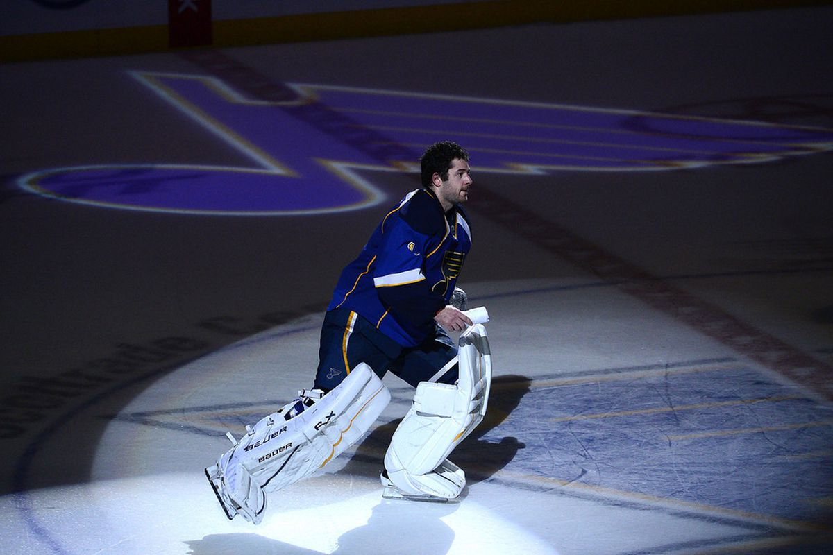 Three straight shutouts, you better be the No. 1 star of the game. The spotlight is on you, Brian Elliott. You earned it.