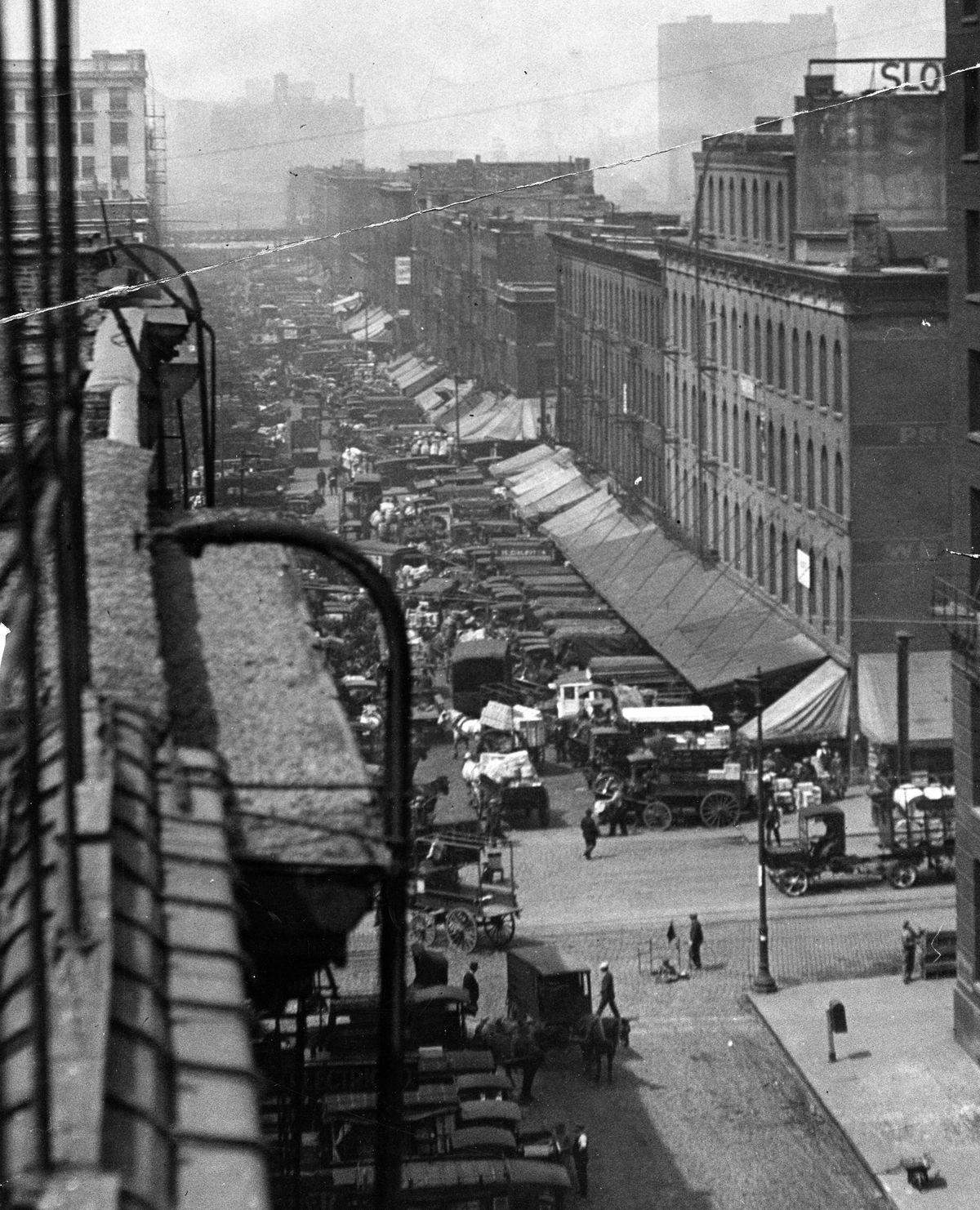 Chicago's old South Water Street in 1924. File Photo.