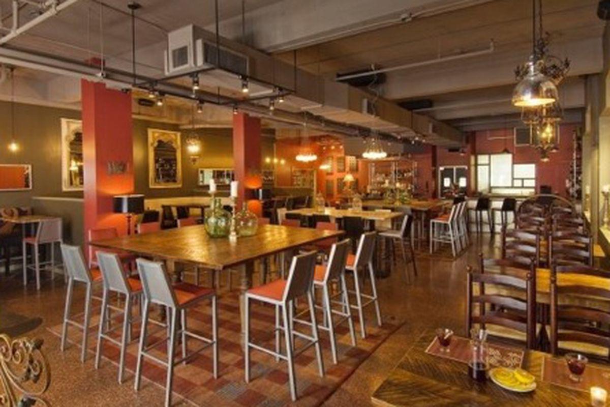 The dining room at Rambla.