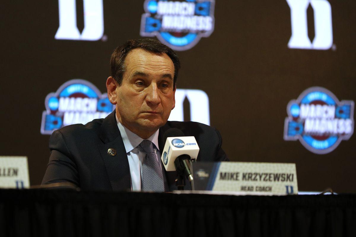 Coach K Meets The Press