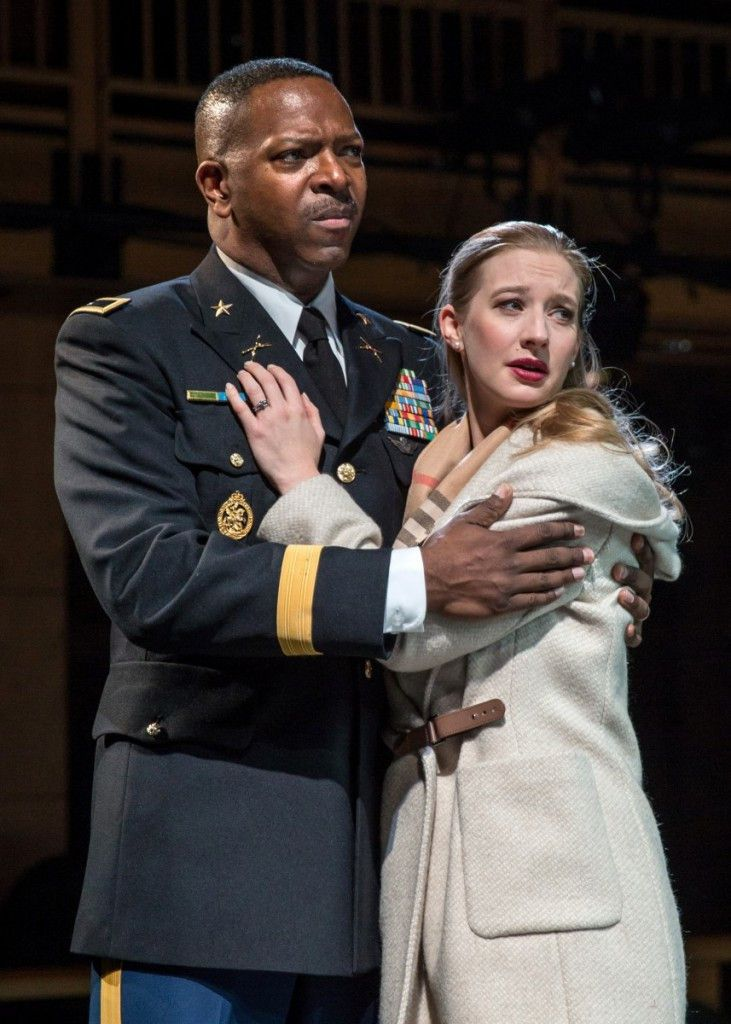 """James Vincent Meredith is Othello and Bethany Jillard is Desdemona in the Chicago Shakespeare Theater production of """"Othello."""" (Photo: Liz Lauren)"""