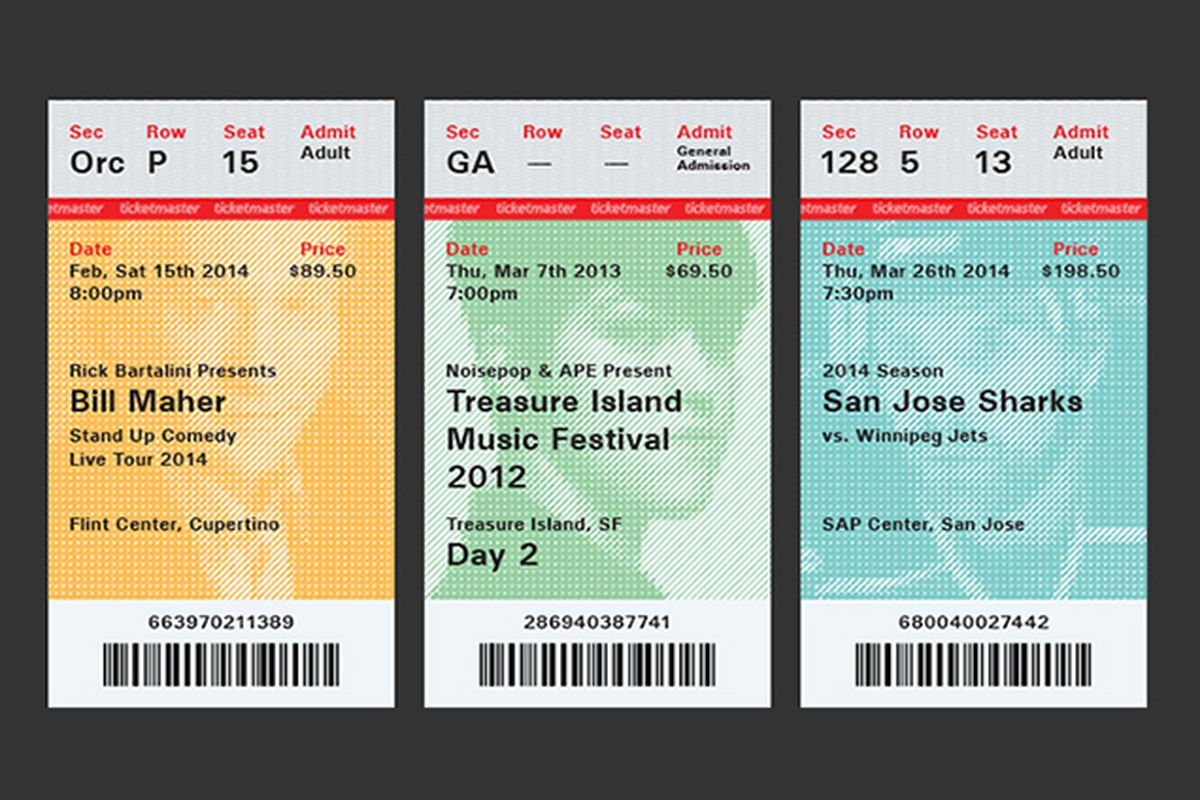 Ticketmaster redesign