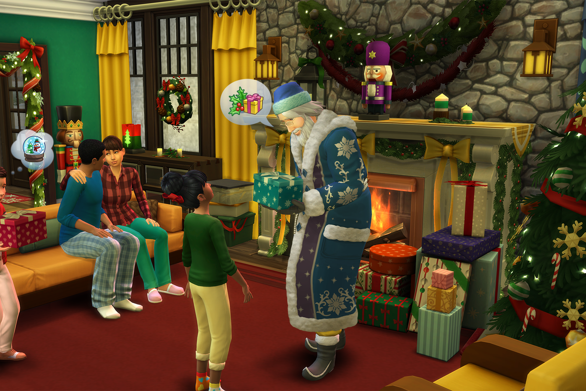 You can seduce Santa Claus in The Sims 4's new expansion