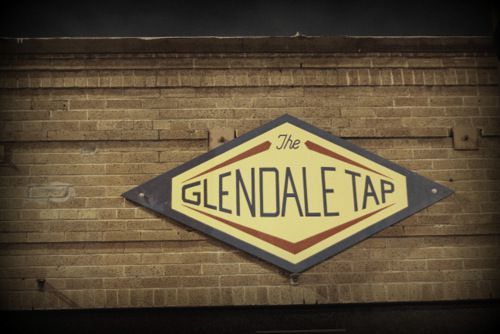 An old wooden sign reads the Glendale Tap.