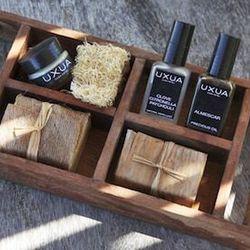 "<span><a href=""http://uxua.com/hotel/organic-cosmetics"">Uxua organic cosmetics</a>. Inquire at info@uxua.com to purchase.</span>"