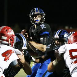 Lincoln-Way East's Jack Baltz (12). Allen Cunningham/For the Sun-Times.