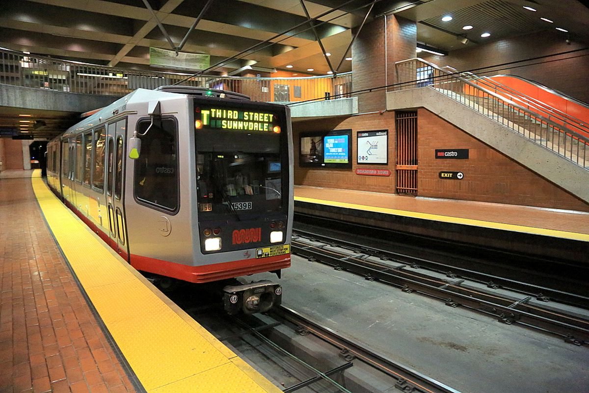 A T Third Street train at Castro Station.