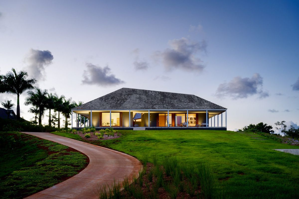 Hawaiian modern hut home