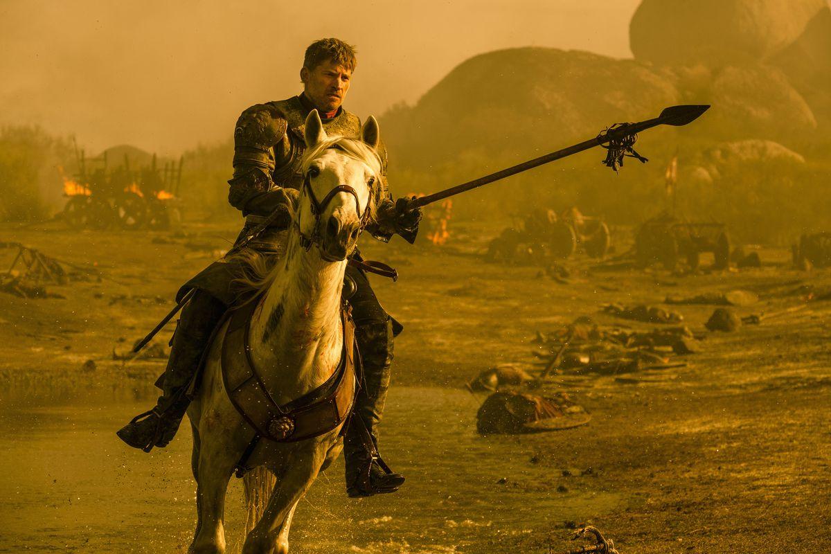 Jaime on the battlefield in Game of Thrones season 7