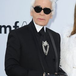 Karl Lagerfeld attends amfAR's Cinema Against AIDS Gala during the 64th Annual Cannes Film Festival at Hotel Du Cap on May 19, 2011 in Antibes, France.