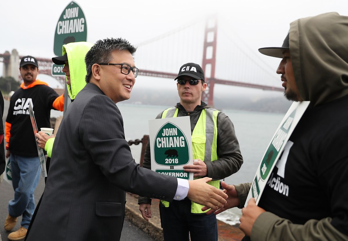 California Governor Candidate John Chiang Campaigns in San Francisco