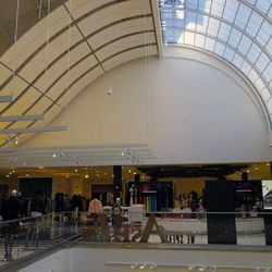 The women's ready-to-wear department. Bloomie's took over a portion of the mall's space—Glendale Galleria mall rats, recognize that ceiling?