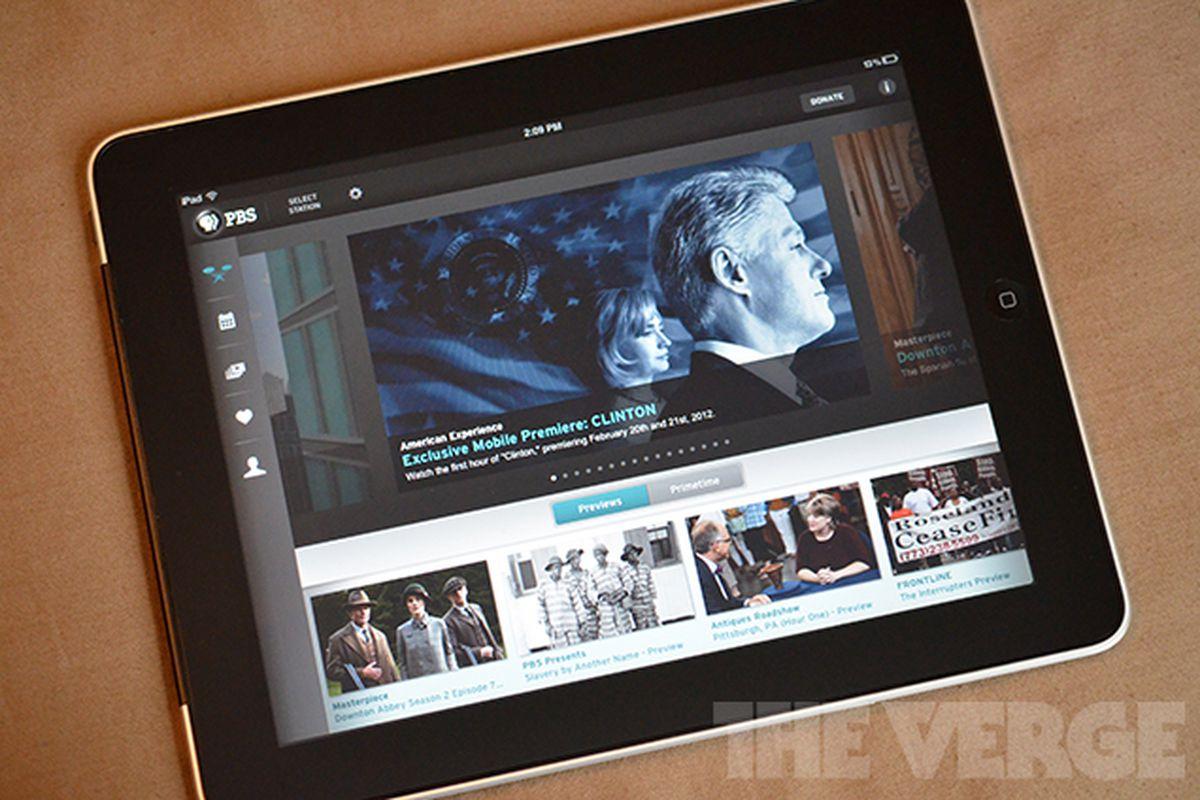 PBS iPad app Clinton Footage Preview