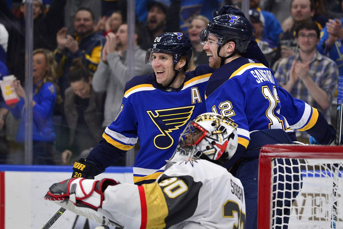 1aaf59d77fa Blues clinch playoff spot with Avalanche win - St. Louis Game Time