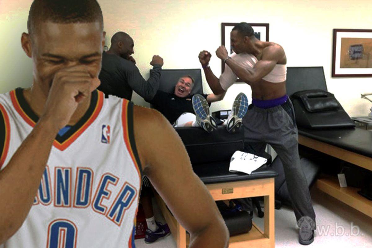 Westbrook finds your pugilistic tomfoolery quite humorous