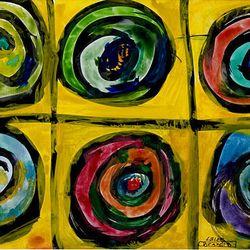 A Brandi Bixler painting is on display at the Bountiful Davis Art Center. The budding artist has Down syndrome.