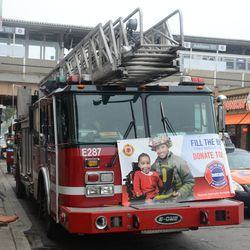 3:36 p.m. Firefighters fundraising for MDA, at Addison and Sheffield -