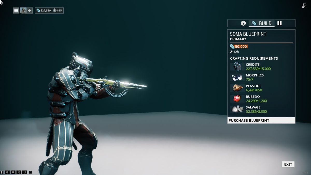 Warframe beginners guide how to survive your first 10 hours polygon do you see how all the numbers are green that means you can start crafting this now if you decide to buy the blueprint digital extremes malvernweather Image collections