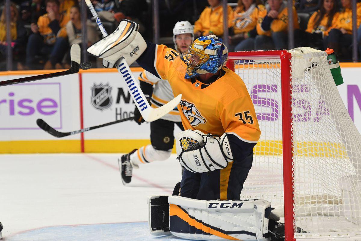 NHL: Boston Bruins at Nashville Predators