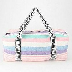 """<a href=""""http://www.urbanoutfitters.com/urban/catalog/productdetail.jsp?id=24325151&color=010""""> Urban Outfitters Urban Renewal Baja duffle bag</a>, $54, urbanoutfitters.com"""